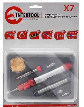 Микрогорелка INTERTOOL GB-0005 с комплектом аксессуаров  , фото 2