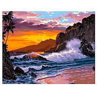 """Картина за номерами """"Захід на березі океану"""" VA- 2211, 40 - 50 см"""