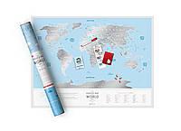 Скреч-карта мира Travel Map Silver (англ. язык)