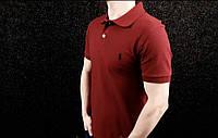 Футболка поло | бордовая тенниска Polo Ralph Lauren логотип вышит