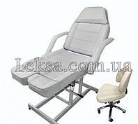 Педикюрное Кресло Кушетка 246Т Cream + стульчик мастера педикюрный 868