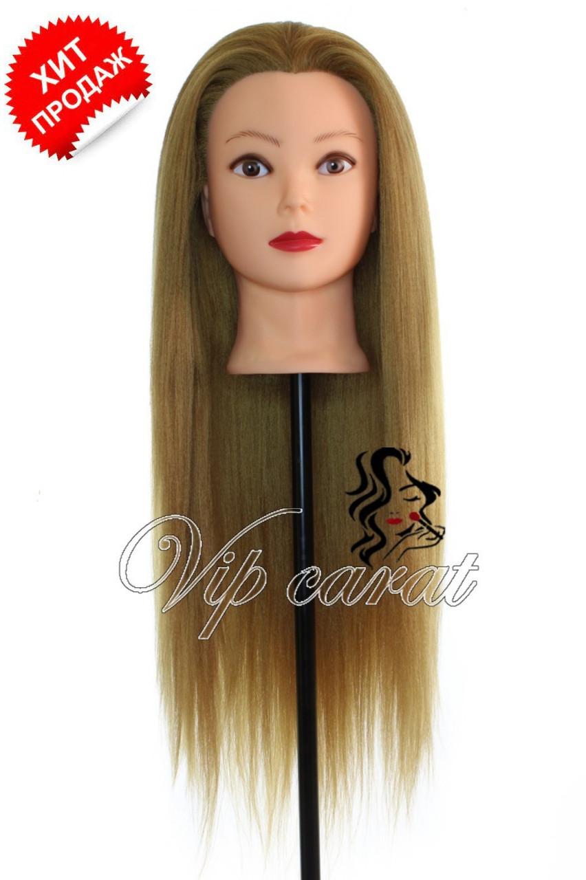 Навчальна голова манекен для створення зачісок / болванка для перукаря з волоссям / манекен для зачісок