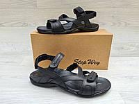 Мужские босоножки Step Wey чёрные, качественные, летние для повседневной ходьбы