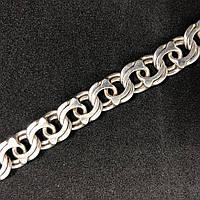 Серебряный браслет Б/У 925 пробы, плетение Бисмарк, длина 22,5 см, вес 32,16 г. Серебро из ломбарда