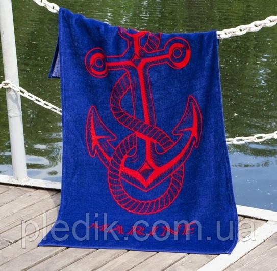 Пляжний рушник 75х150 Lotus Anchor New синий
