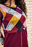 Платье женское мини с геометрическим принтом (красный, бордовый, р.42-52), фото 9