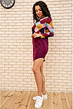 Платье женское мини с геометрическим принтом (красный, бордовый, р.42-52), фото 7
