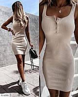 Облягаюче ефектне жіноче плаття-майка короткий міні по фігурі на літо р-ри 42-46 арт. 681