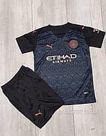 Детская Футбольная форма Манчестер Сити (FС Manchester City)Сезона 2020-2021 Гостевая.