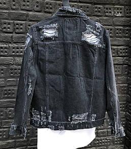 Мужская Джинсовая Куртка Черная