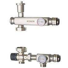 """Змішувальний вузол KOER KR.S1023 (з термостатичним смесит. клапаном ) 1"""" НР SUS304 (KR2957)"""