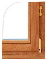 Дерево-алюминиевое окно евробрус сосна