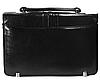 Мужская классическая барсетка из кож зама черная, фото 3