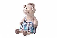 Мягкая игрушка Same Toy Свинка в комбинезоне 45 сантиметров THT706, КОД: 2427699