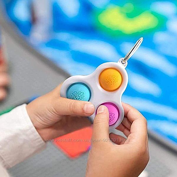 Антистресс POP IT Брелок Пупырка Simple Dimple Тройной Игрушка для Снятия Стресса Новинка 2021