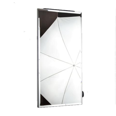 Керамічний обігрівач дзеркало Venecia ПКИТЗ 250 Вт з термостатом, конвектор електричний побутовий 30х60