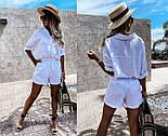 Жіночий костюм двійка річний з шортами і сорочкою, фото 3