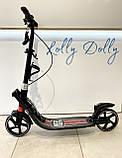 Двоколісний Самокат Best Scooter з 2 амортизаторами і ручним гальмом Червоний, фото 3