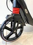 Двоколісний Самокат Best Scooter з 2 амортизаторами і ручним гальмом Червоний, фото 4