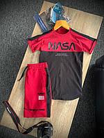 Мужской летний комплект футболка шорты, летний мужской спортивный костюм