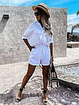 Костюм жіночий двійка з шортами з льону, фото 4