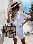 Костюм жіночий двійка з шортами з льону, фото 5