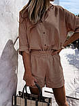 Костюм женский двойка с шортами из льна, фото 3