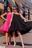 Асиметричне стильне плаття вільного крою на бретельках р-ри 42-46 арт. 7710