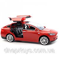 Машинка на радиоуправлении Тесла красная, 1:16, световые эффекты (HQ20149), фото 6