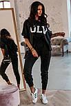 Спортивный женский костюм стильный на манжетах, фото 3