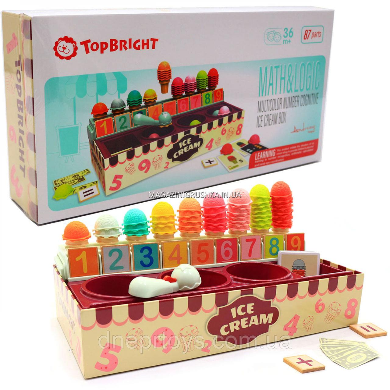 Цветная когнитивная коробочка с мороженым от Top Bright (120478)