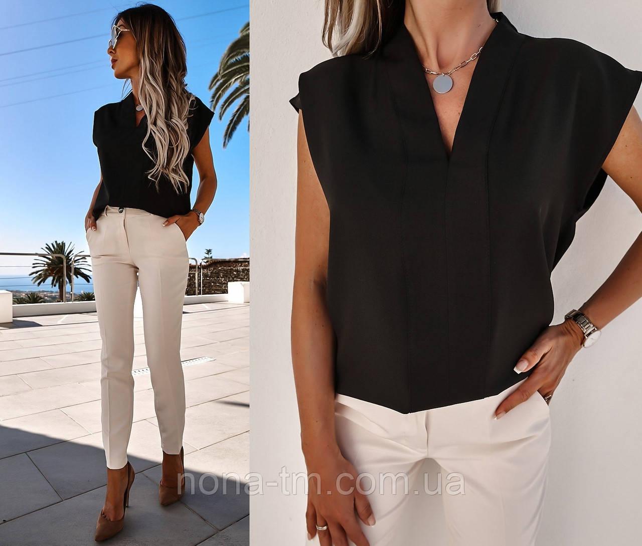 Женская блуза летняя с коротким рукавом