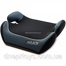 Бустер дитячий автомобільний Joy, від 3,5 до 12 років, 15-36 кг, сіро-чорний (43616)