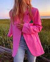 Стильный женский пиджак, яркий пиджак женский , женский пиджак оверсайз, пиджак из льна на лето