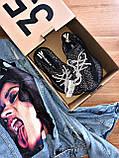 Чоловічі кросівки в стилі Adidas Yeezy boost 350 V2 (black), Рефлективні Адідас ізі буст 350 (Репліка ААА), фото 2