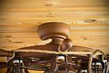 Люстра штурвал деревянная с компасом на 6 лампочек, фото 8