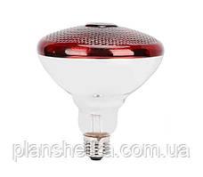 Лампа інфрачервона Tehnomur PAR38 колір скла червоний 150 Вт