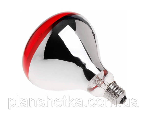 Лампа інфрачервона Tehnomur R125 колір скла червоний 250 Вт, фото 2