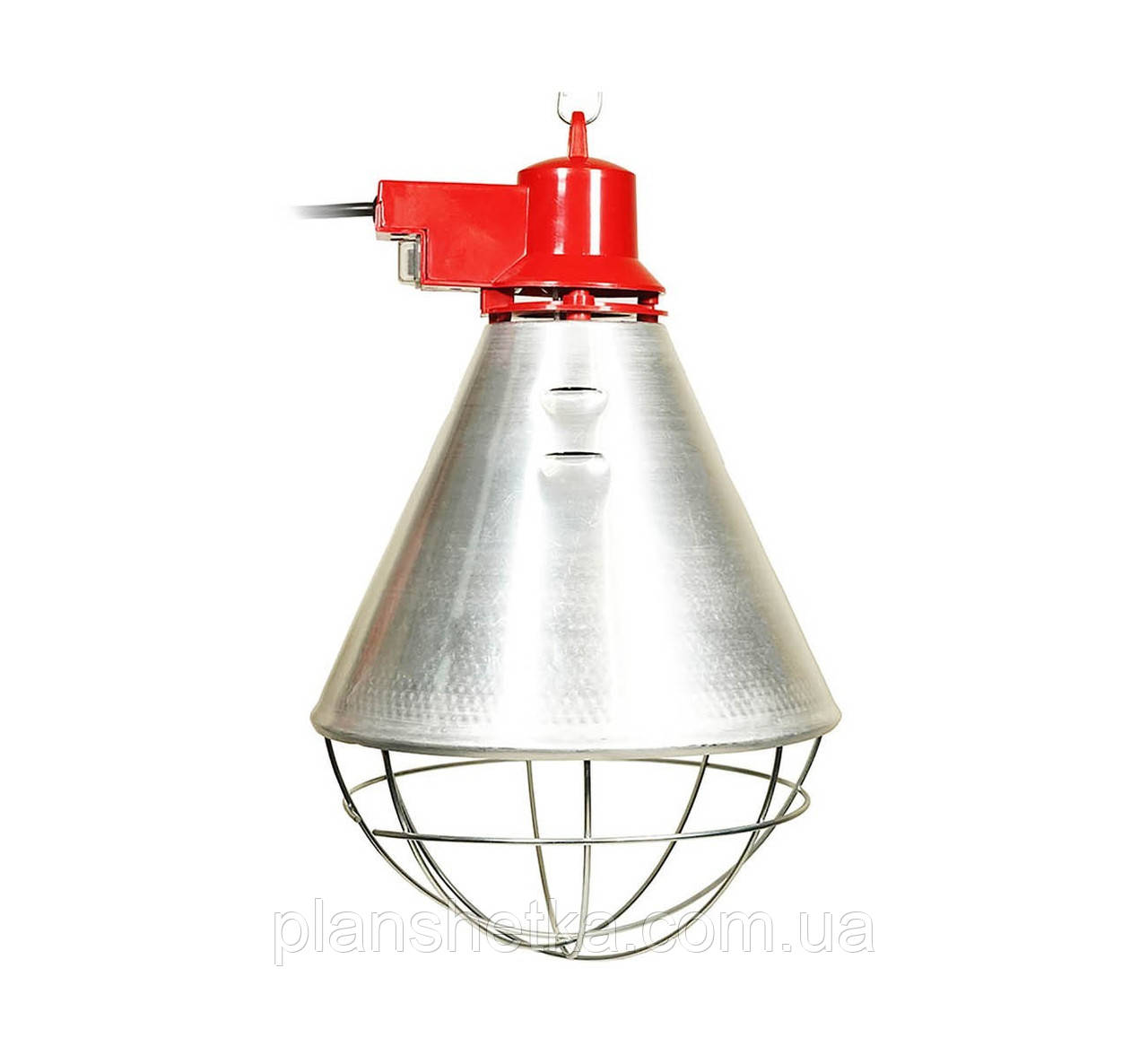 Рефлектор для інфрачервоної лампи (абажур) Tehnomur S1005 колір алюміній