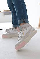 Кроссовки Puma Cali Mix Пума Кали Микс Серо-белые (36,38,40), фото 3