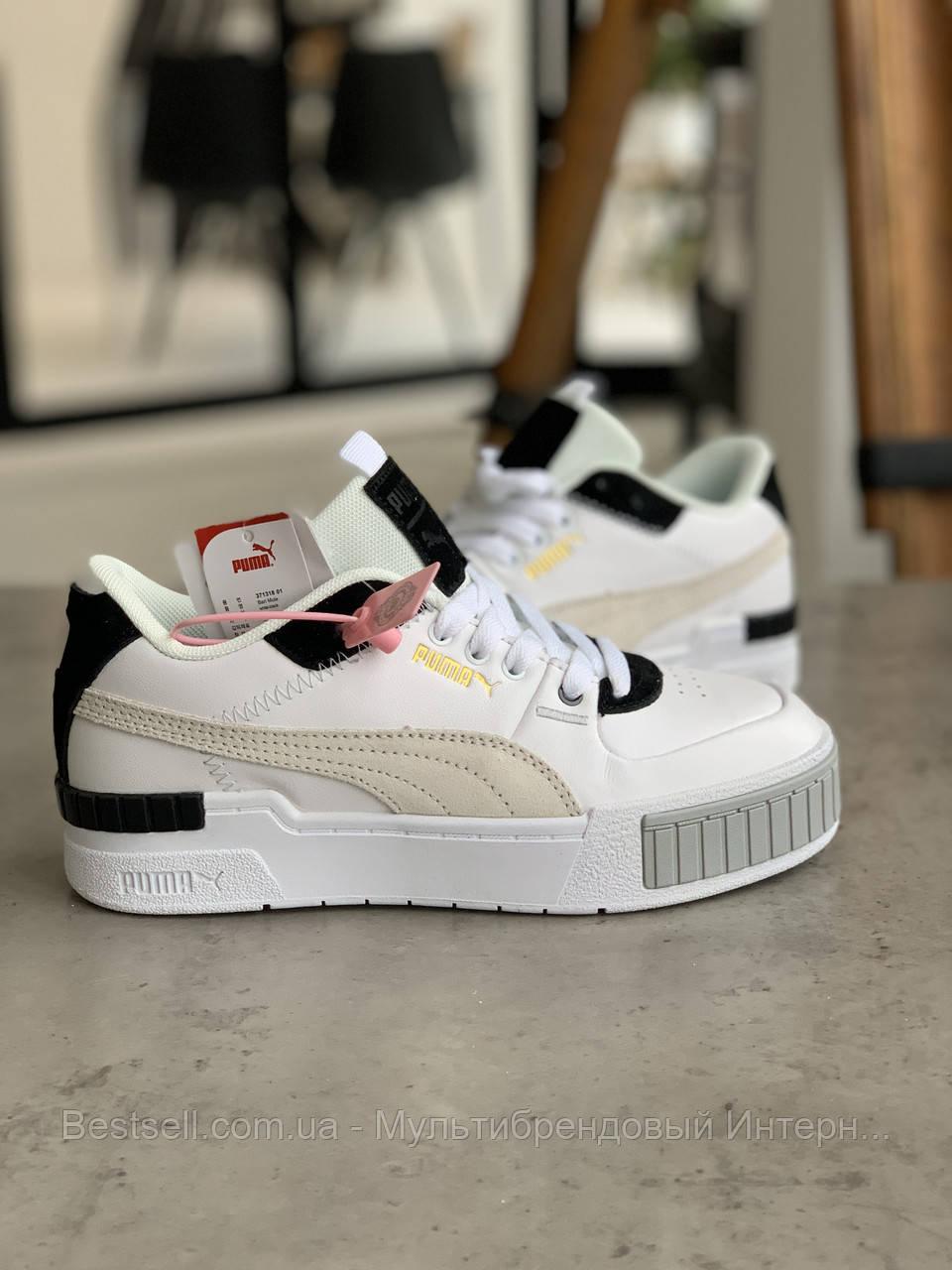 Кросівки Puma Cali Mix Пума Калі Мікс Чорно-білі (37,39)
