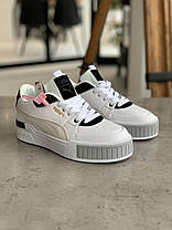 Кросівки Puma Cali Mix Пума Калі Мікс Чорно-білі (37,39), фото 2