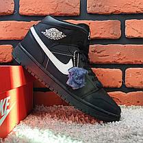 Зимові кросівки (на хутрі) Nike Air Jordan 1-127 ⏩ [43 останній розмір], фото 3