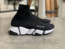 Кросівки Balenciaga Speed Trainer Black Баленсіага Снід Трейнер Чорні (36,37,38,39,40), фото 3