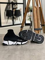 Кросівки Balenciaga Speed Trainer Black Баленсіага Снід Трейнер Чорні (36,37,38,39,40), фото 2