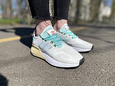 Кроссовки Adidas ZX 2K Адидас  Белые (36,37,38,39), фото 2