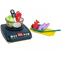 Іграшкова кухня для дітей Induction cooker, ігрова плита дитяча з парою і набір для ліплення (детская кухня)