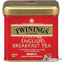 Чай черный Twinings English Breakfast Tea ж/б 100г, фото 1