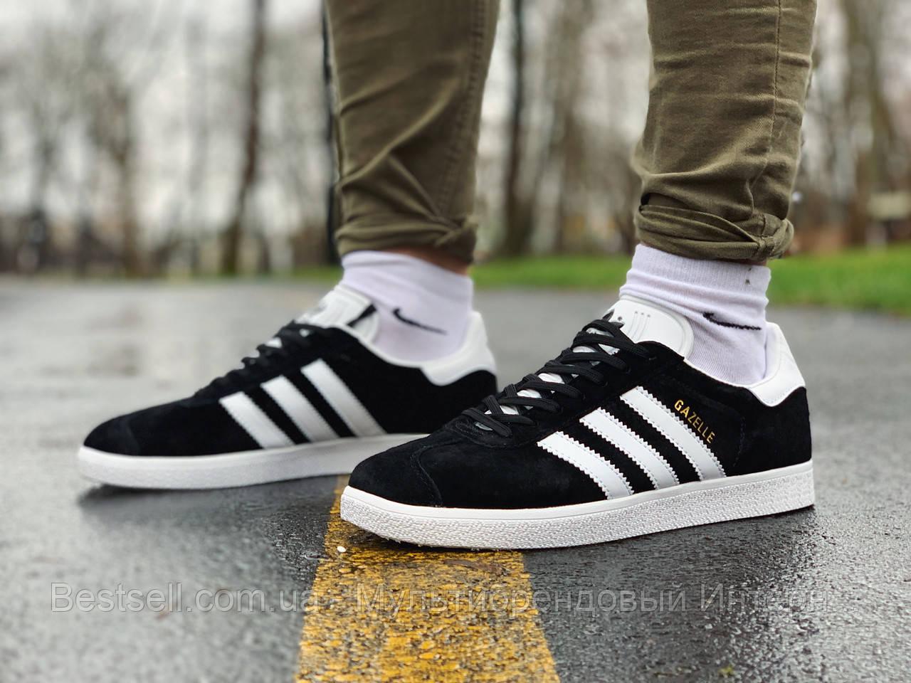 Кроссовки  натуральная замша Adidas Gazelle Адидас Газель (42,43,44,45)
