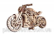 Дерев'яний 3D конструктор Мотоцикл DMS, фото 3